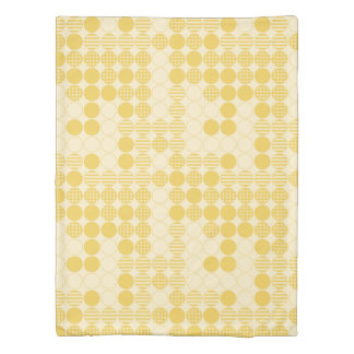 Light and Dark Yellow Dots Design, Four in a Row Duvet Cover