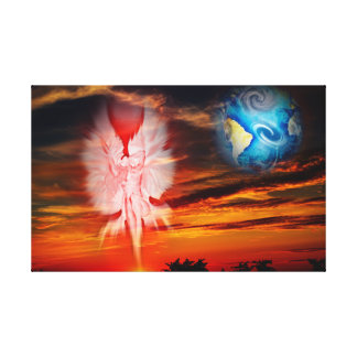 Light and energy - heavenly feature canvas print