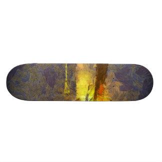 Light and fury of rocket taking off custom skate board