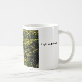 Light and shade classic white coffee mug