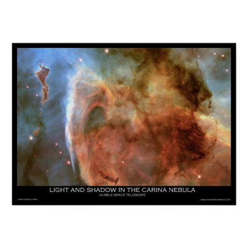 Light and Shadow in the Carina Nebula Posters