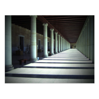 Light and shadows in Agora Museum in Athens Postcard