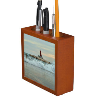 Light and surge in the port of Villajoyosa Desk Organizer