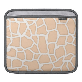 Light Apricot Giraffe Animal Print Sleeves For iPads
