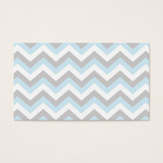 Light Aqua Turquoise Chevron Chic ZigZag Pattern Business Card