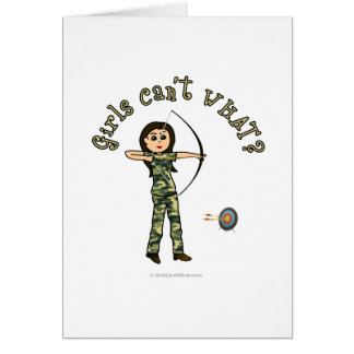 Light Archery in Camouflage Greeting Card