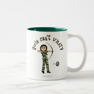 Light Archery in Camouflage Two-Tone Coffee Mug