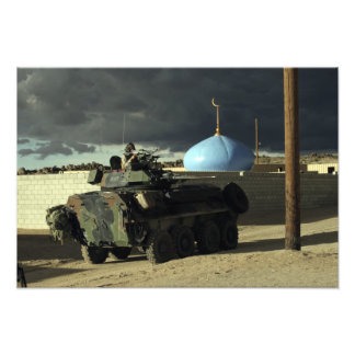 Light armored vehicle commander photograph