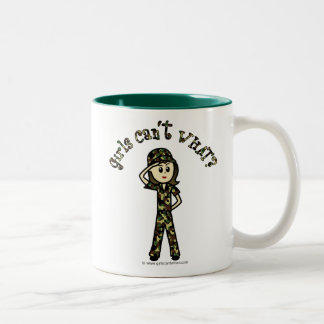 Light Army Woman Mugs