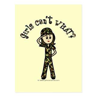 Light Army Woman Postcard