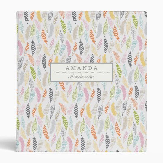 Light as a Feather by Origami Prints Custom Binder