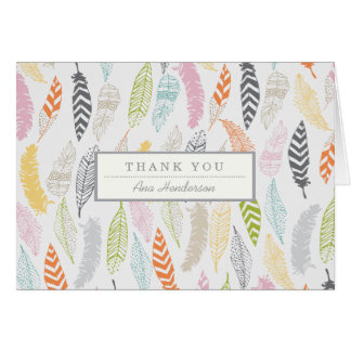 Light as a Feather by Origami Prints Thank You Card