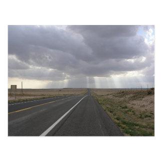 Light At End of Road Postcard