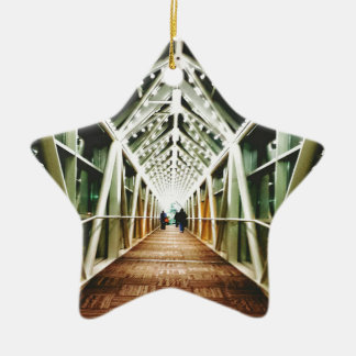 """""""Light At The End Of The Tunnel """" Ceramic Ornament"""