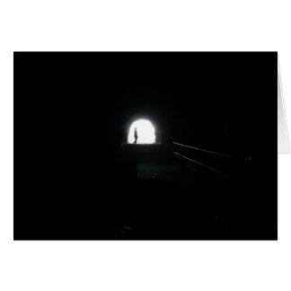 light at the end of the tunnel - notecard