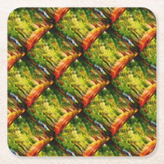 Light At The End Of The Tunnel Square Paper Coaster