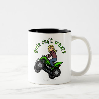Light ATV | Four Wheeling Girl Two-Tone Coffee Mug