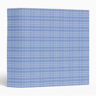 Light baby blue Plaid Pattern Avery Binder