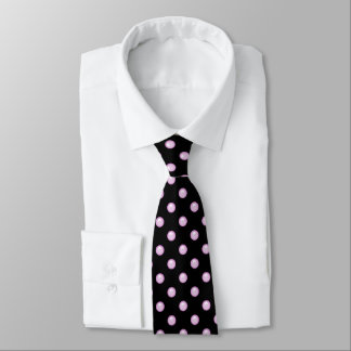 Light Baby Pink Droplet/Button Dot Design Tie