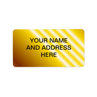 Light beams on yellow background personalized address labels