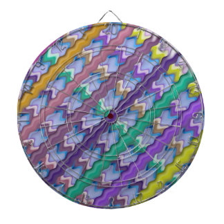 Light Beams  : Rainbow Waves Hue Colorful Spectrum Dartboard With Darts