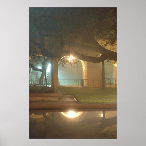 Light Beams Reflecting Poster