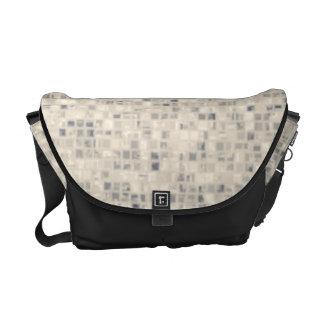 Light Beige Block Pattern Commuter Bags