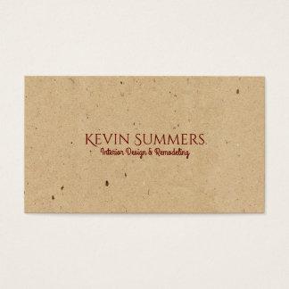Light Beige Craft Paper Texture Business Card