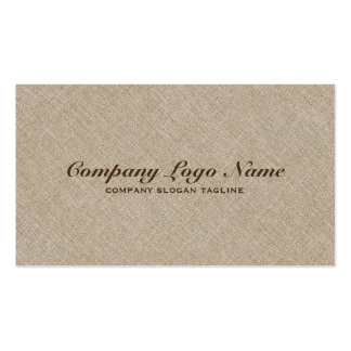 Light Beige Natural Faux Linen Burlap Fabric Look Pack Of Standard Business Cards