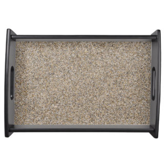 LIGHT BEIGE SAND TEXTURE SERVING TRAY