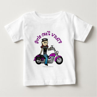 Light Biker Girl Baby T-Shirt