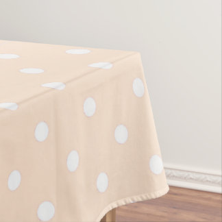 Light Bisque Polka Dot Tablecloth
