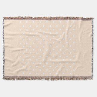 Light Bisque Polka Dot Throw Blanket