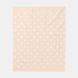 Light Bisque Polka Dots Fleece Blanket