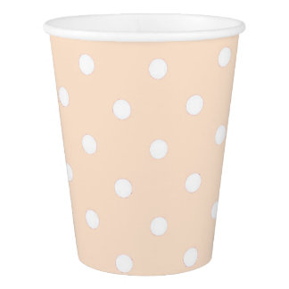 Light Bisque Polka Dots Paper Cup