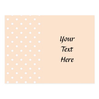 Light Bisque Polka Dots Post Cards