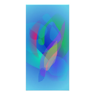 Light Blue Abstract Colors Photo Card