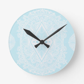 Light Blue , Age of awakening, bohemian, newage Round Clock