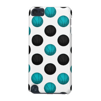Light Blue and Black Basketball Pattern iPod Touch 5G Covers