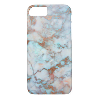 Light Blue And Brown Marble Stone iPhone 8/7 Case