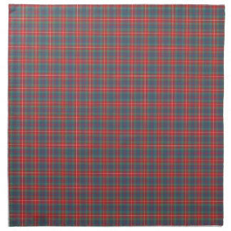 Light Blue and Coral Fraser Ancient Clan Tartan Napkin