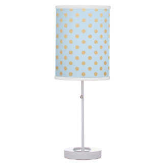 Light Blue and gold dot nursery or bedroom decor Table Lamp