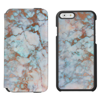Light Blue And Gray Marble Stone Incipio Watson™ iPhone 6 Wallet Case