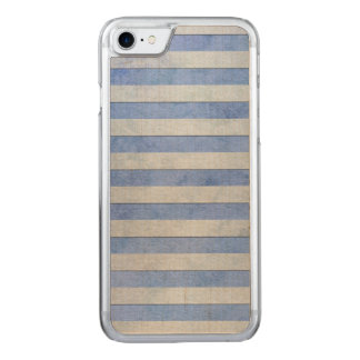 Light Blue and Grey Watercolor Stripes Pattern Carved iPhone 8/7 Case