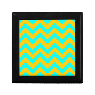 Light Blue And Orange Chevrons Gift Boxes
