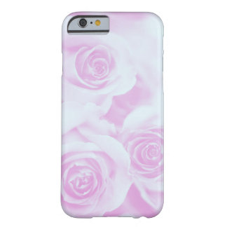 Light Blue and Pinkish Purple Roses Barely There iPhone 6 Case