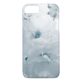 Light blue and white cherry blossom sakura flowers iPhone 7 case