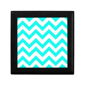 Light Blue And White Chevrons Gift Box