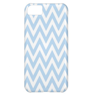 Light Blue and White Chevrons Iphone 5C case