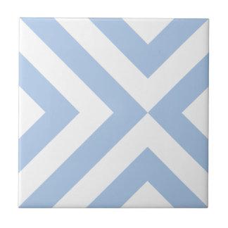 Light Blue and White Chevrons Tile